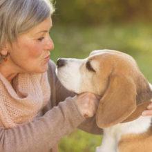 Resident & Pet at Pet Friendly retirement community of Arbor Court
