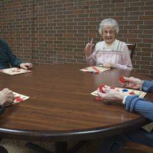 Independent seniors enjoying the amenities at Arbor Court
