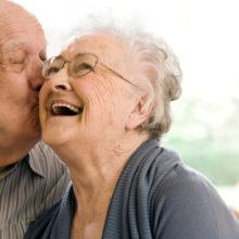 Senior couple enjoying stay and the best senior living home in lawrence/alvamar kansas